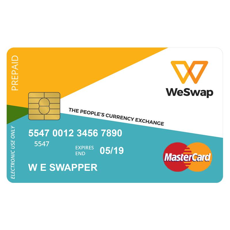 WeSwap MasterCard
